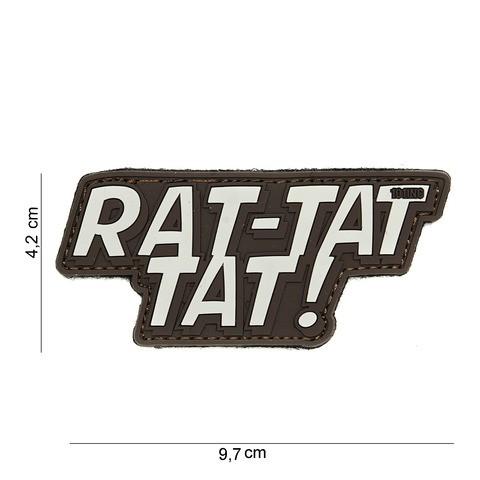 Patch 3D PVC Rat-tat tat brown