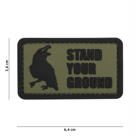 Patch 3D PVC Stand Your Ground green
