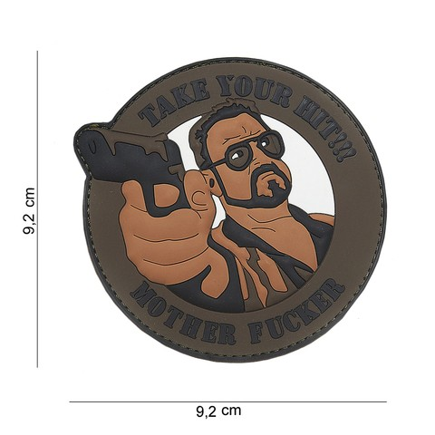 PATCH 3D PVC TAKE YOUR HIT BROWN
