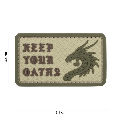 PATCH 3D PVC KEEP YOUR OATHS COYOTE