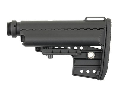 Modular AR-15/M4 Buttstock with 6-position Receiver Extension - Black