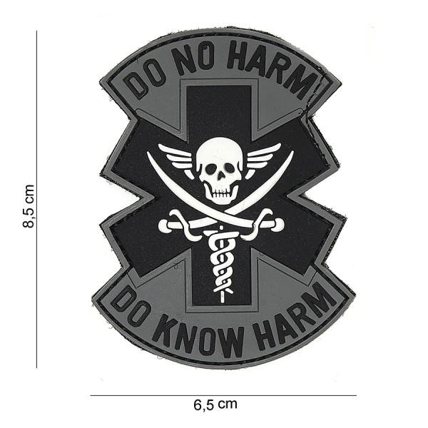 Patch PVC Do no harm grey/black