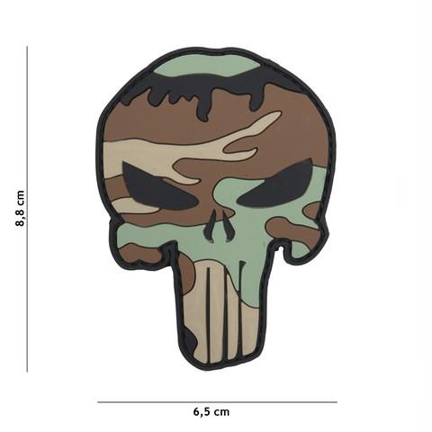Patch 3D PVC Punisher woodland