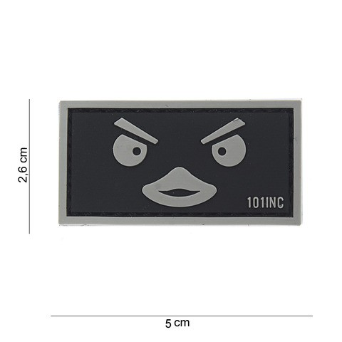Patch 3D PVC Duckface black
