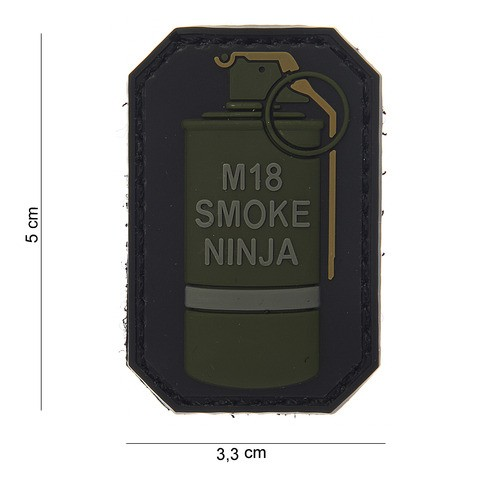 Patch 3D PVC M-18 smoke ninja