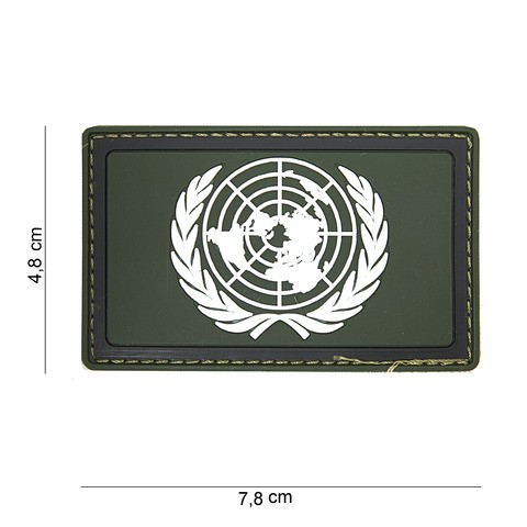Patch 3D PVC UN green