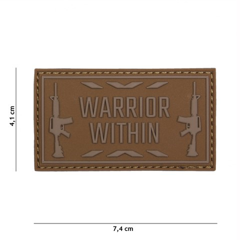 PATCH 3D PVC WARRIOR WITHIN COYOTE