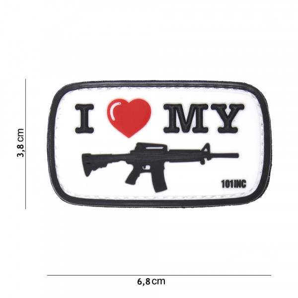 Patch i love my M4 white