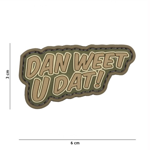 PATCH 3D PVC DAN WEET U DAT COYOTE