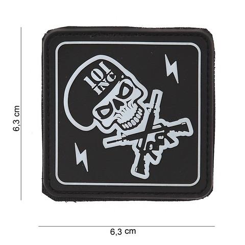 Patch PVC 101 INC skull / gun's