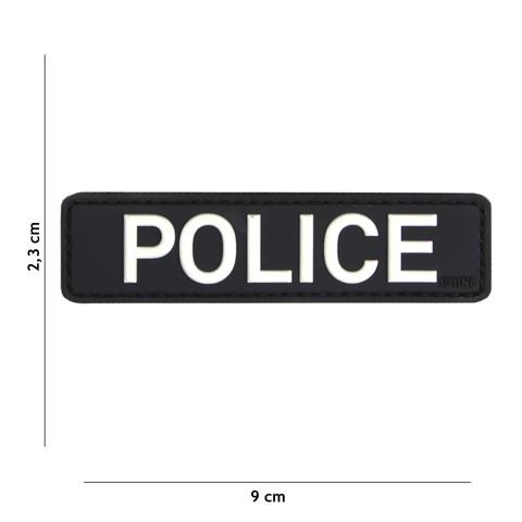 PATCH 3D PVC POLICE BLACK