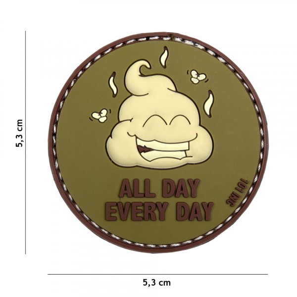 Patch 3D PVC All Day Every Day green/brown