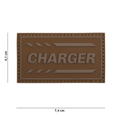 PATCH 3D PVC CHARGER COYOTE