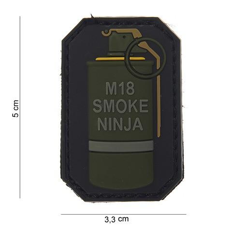 Patch 3D PVC M-18 smoke ninja