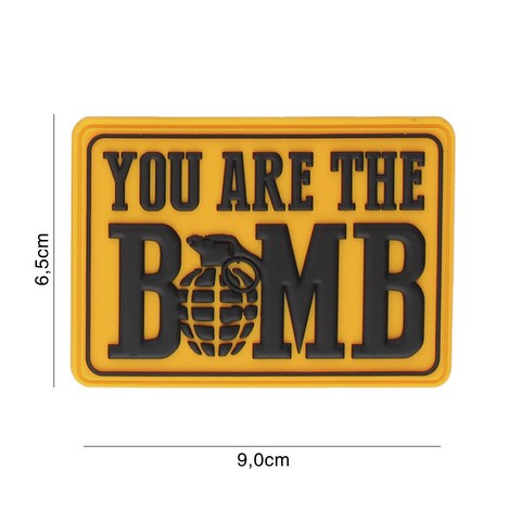 PATCH 3D PVC YOU ARE THE BOMB