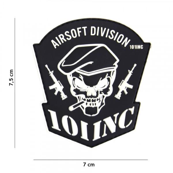 Patch 3D PVC Airsoft Division 101 INC black