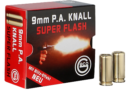 Geco 9mm P.A.K.Super Flash mit Blitzeffekt