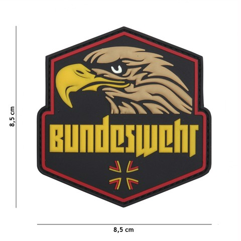Patch 3D PVC Bundeswehr yellow