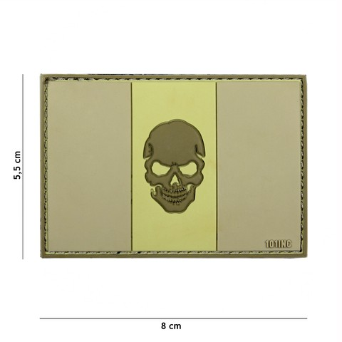 PATCH 3D PVC FLAG ITALY + SKULL SUBDUED