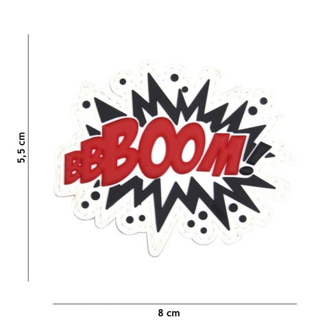 Patch 3D PVC BOOM! red