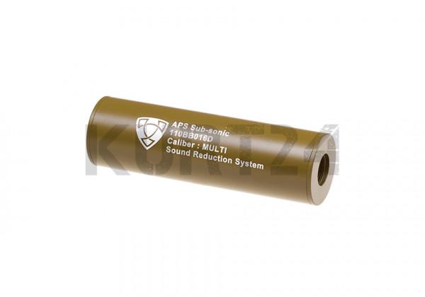 APS Silencer 110mm CCW Tan