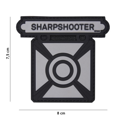 Patch 3D PVC Sharpshooter grey