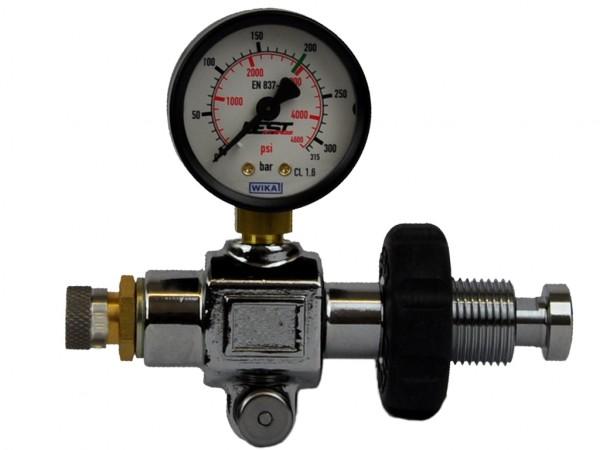 Pressluft Manometer mit Schnellfüll-Adapter