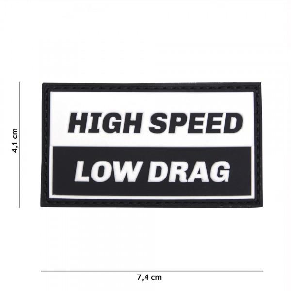 Patch 3D PVC High speed black