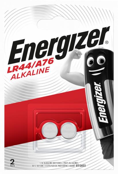 Energizer Alkaline Knopfzelle A76 LR44 AG13 Blister 2
