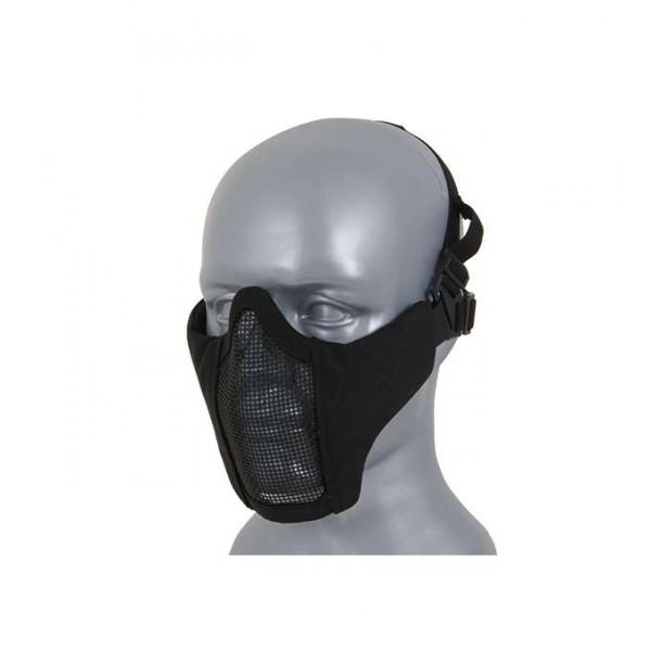 Gesichtsmaske halb schwarz