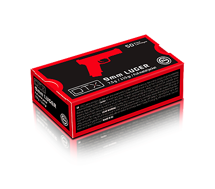 Geco 9mm Luger Vollmantel DTX 7,5g / 115 gr.