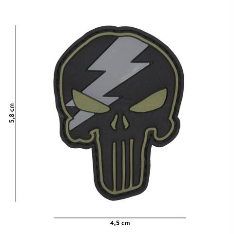 Patch 3D PVC Punisher thunder green