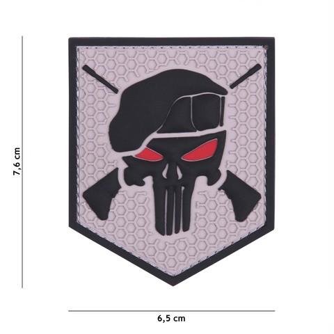 Patch 3D PVC Commando Punisher grey