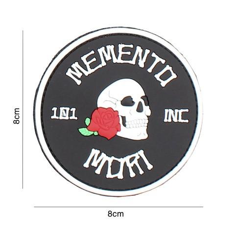PATCH 3D PVC MEMENTO MORI 101 INC (ROUND) BLACK