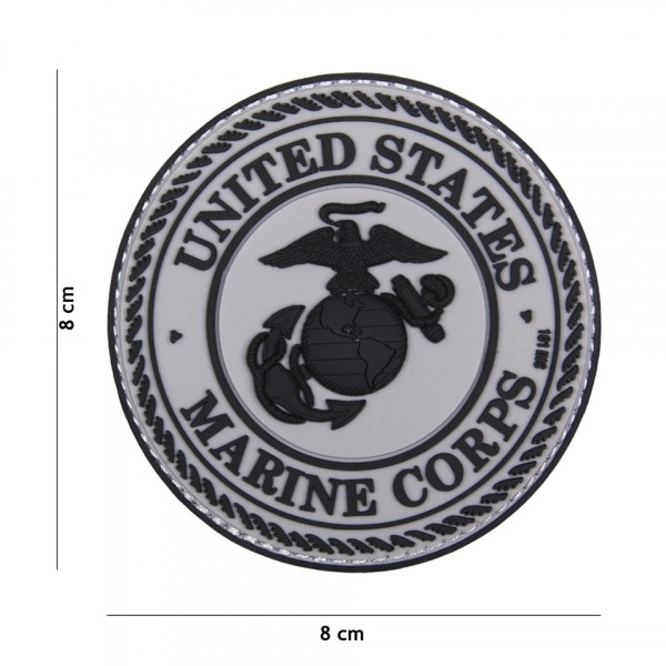 Patch 3D PVC United States Marine Corps grey