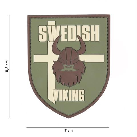 Patch 3D PVC Swedish Viking green