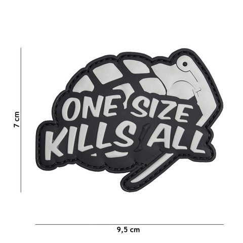 Patch 3D PVC One size kills all grey