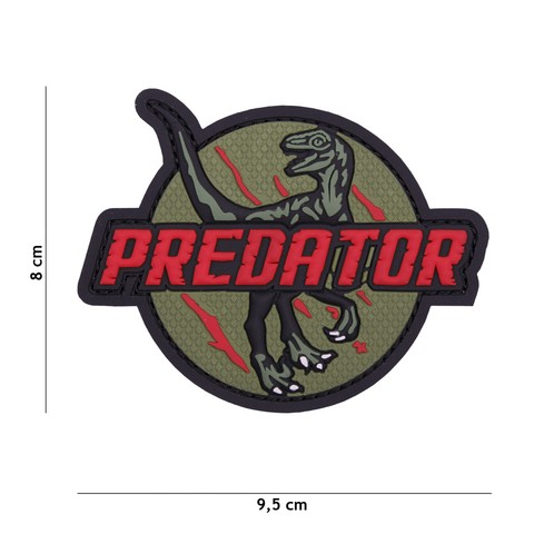Patch 3D PVC Predator red