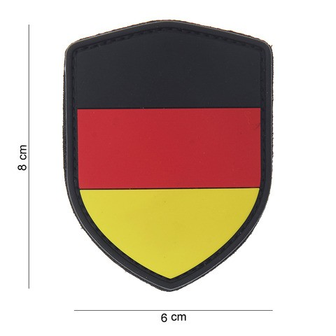 Patch 3D PVC shield German