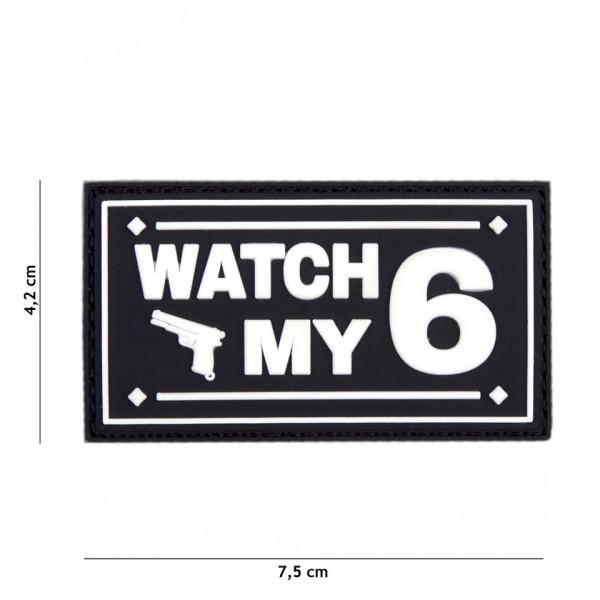 Patch 3D PVC Watch my black