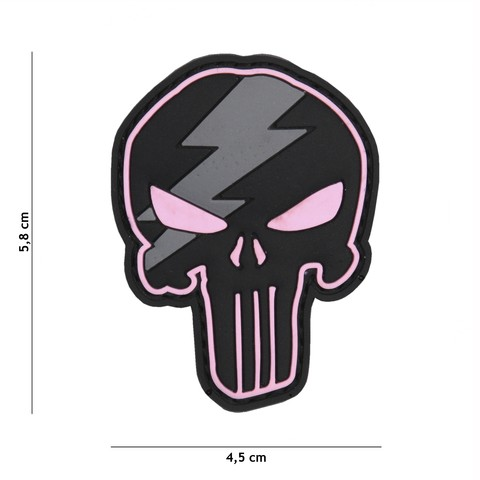 Patch 3D PVC Punisher thunder pink
