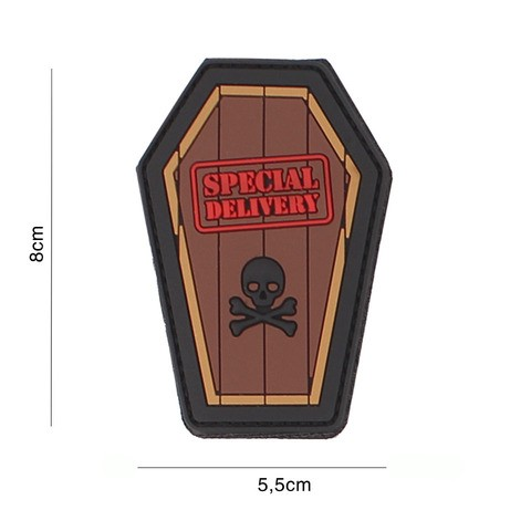 PATCH 3D PVC SPECIAL DELIVERY BROWN
