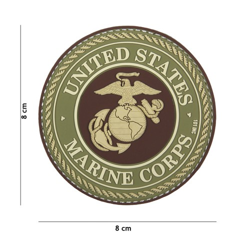 Patch 3D PVC United States Marine Corps brown