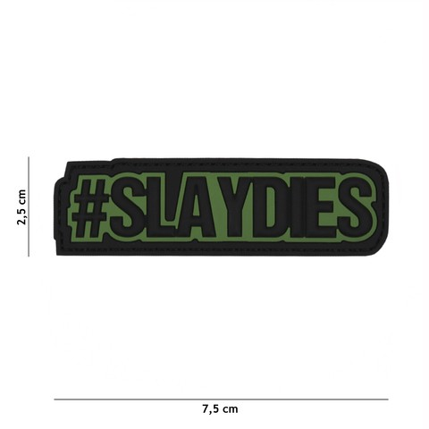 PATCH 3D PVC SLAYDIES GREEN