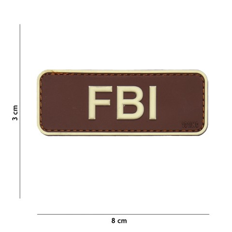 Patch 3D PVC FBI bruin