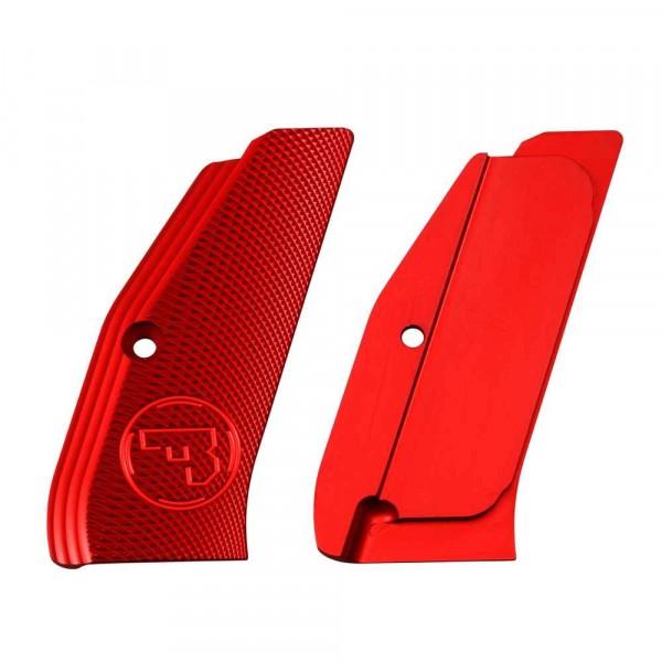 Griffschalen für SP-01, lang alu rot