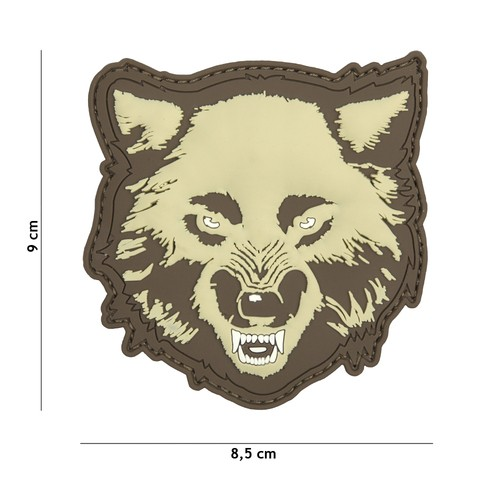 Patch 3D PVC Wolf coyote