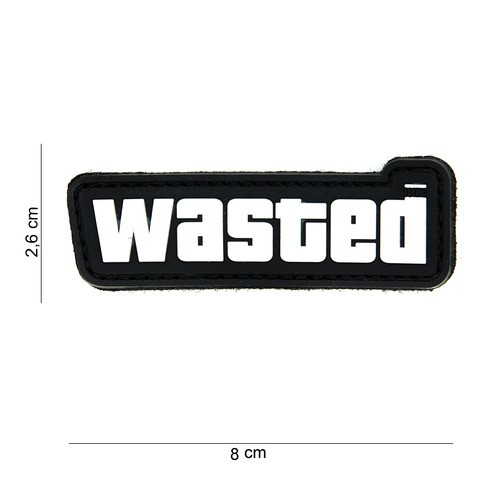 PATCH 3D PVC WASTED BLACK/WHITE