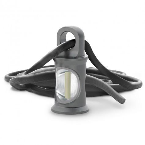 TRIGATAG® Grau mit Lederkette grau