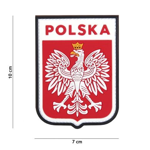 Patch 3D PVC Polska shield
